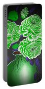 Dark And Delicious Roses  In Green Portable Battery Charger