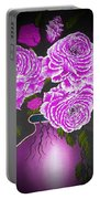 Dark And Delicious Roses In Pink Lilac Portable Battery Charger