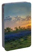 Daybreak In The Land Of Bluebonnets Portable Battery Charger