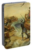 Debarquement De Saint Louis, A Damiette En Egypte, 1249 Portable Battery Charger