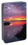 Deception Pass Sunset Landscape Portable Battery Charger