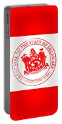 Delaware Seal Stamp Portable Battery Charger