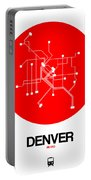 Denver Red Subway Map Portable Battery Charger