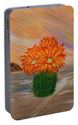 Desert Blooms Portable Battery Charger