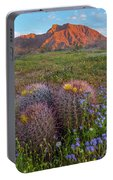 Desert Bluebell In Spring With Barrel Portable Battery Charger