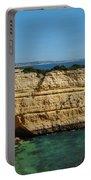 Deserta Beach Scene In Algarve Portable Battery Charger