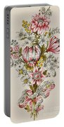 Design For Sprays Of Flowers Portable Battery Charger