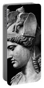 Detail Of The Face Of Athena Farnese Portable Battery Charger