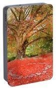 Digital Watercolor Painting Of Beautiful Autumn Fall Nature Fair Portable Battery Charger