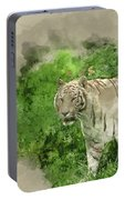 Digital Watercolor Painting Of Beautiful Portrait Image Of Hybri Portable Battery Charger