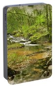 Digital Watercolor Painting Of Stunning Landscape Iamge Of River Portable Battery Charger