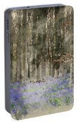 Digital Watercolor Painting Of Stunning Landscape Of Bluebell Fo Portable Battery Charger