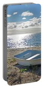 Dinghy On A Sunny Beach Portable Battery Charger