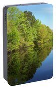 Dismal Swamp Canal In Spring Portable Battery Charger