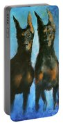 Doberman Family Portable Battery Charger
