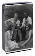 Doris Ulmann   1882-1934  Four Musicians Including A Man Playing A Guitar, A Man Playing A Violin Portable Battery Charger