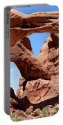 Double Arch In Utah Park During Summer Time  Portable Battery Charger
