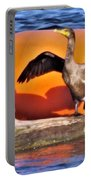 Double Crested Cormorant    Drying Wings         September        Indiana Portable Battery Charger