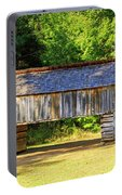 Double Crib Barn In Cades Cove In Smoky Mountains National Park Portable Battery Charger