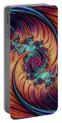 Double Fractal Spiral Portable Battery Charger