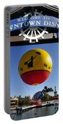 Downtown Disney Tribute Poster 2 Portable Battery Charger