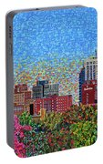 Downtown Raleigh - October Sunset Portable Battery Charger
