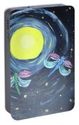 Dragonflies And Moonlight Portable Battery Charger