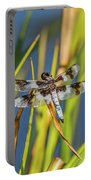 Dragonfly Perched By Pond Portable Battery Charger