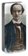 Drawing Of Charles Baudelaire Portable Battery Charger