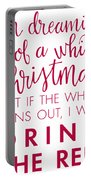 Drink The Red Portable Battery Charger by Nancy Ingersoll