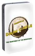 Drum Circle Logo Portable Battery Charger