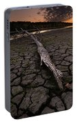 Dry Banks Of Rainy River After Sunset Portable Battery Charger