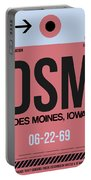 Dsm Des Moines Luggage Tag I Portable Battery Charger
