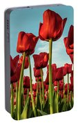 Dutch Red Tulip Field. Portable Battery Charger