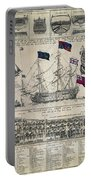 Early 18th Century British Man Of War Ship Diagram Portable Battery Charger