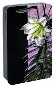 Easter Lily Portable Battery Charger