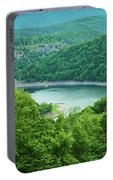 Edersee Lake Surrounded With Forest Portable Battery Charger