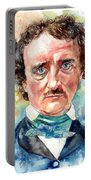 Edgar Allan Poe Portrait Portable Battery Charger
