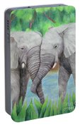 Elephant Couple Portable Battery Charger