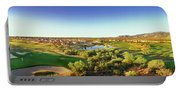 Elevated View Of Golf Course, Sun City Portable Battery Charger