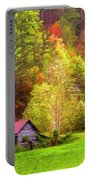 Embraced In Autumn Color Painting Portable Battery Charger