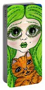 Emo Girl Green Portable Battery Charger