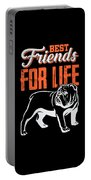 English Bulldog Best Friends For Life Portable Battery Charger