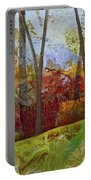Fall Colors II Portable Battery Charger by Shadia Derbyshire