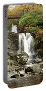 Falls At Inversnaid In Autumn Portable Battery Charger