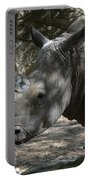 Fantastic Profile Of A Rhino With A Long Horn Portable Battery Charger