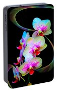 Fantasy Orchids In Full Color Portable Battery Charger