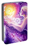 Fantasy Painting About The Flight Of A Dream In The Universe Portable Battery Charger