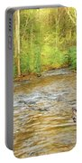 Fawn Drinking From Stream Portable Battery Charger