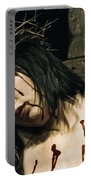 Female Christ Portrait II Portable Battery Charger